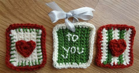 pattern gift tag fiber flux free crochet pattern stitchy gift tags
