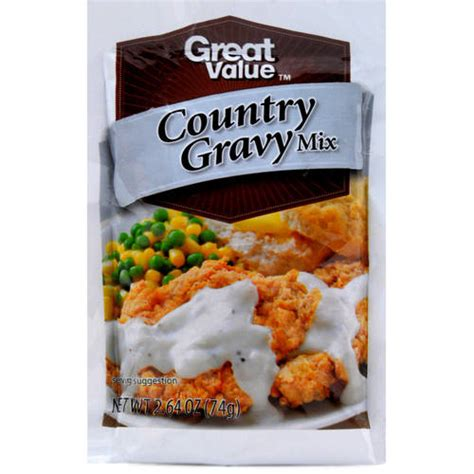 country style gravy great value country style gravy mix 2 64 oz walmart