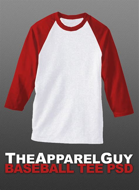 Baseball Tee Psd By Theapparelguy On Deviantart Baseball T Shirt Design Templates