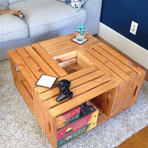 Diy Crate Coffee Table Crafts Pinterest Diy Crate Coffee Table