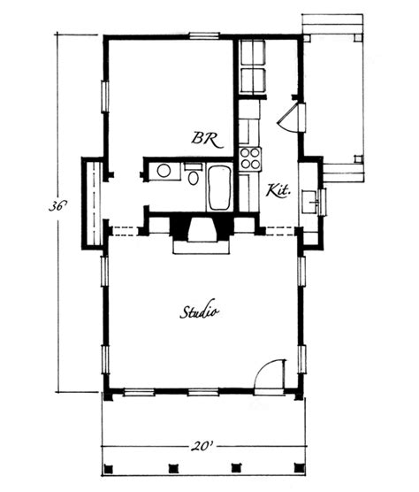 art studio floor plans house plans by john tee artist studio cottage