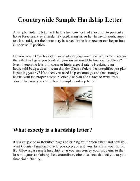 Sle Hardship Letter For Keep Your Home California Country Sle Hardship Letter