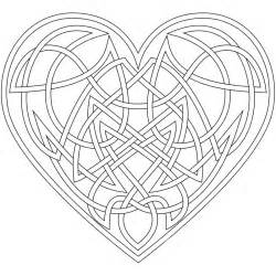 Complex Geometric Heart Coloring Pages SelfColoringPages sketch template