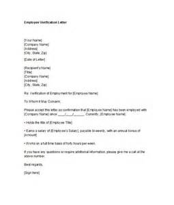 Proof Of Employment Letter 40 Proof Of Employment Letters Verification Forms Sles