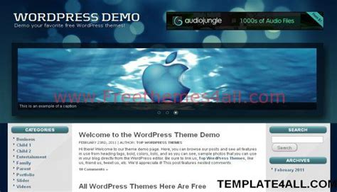 wordpress themes free blue black blue free wordpress theme download