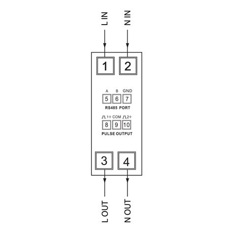 single line meter wiring diagram