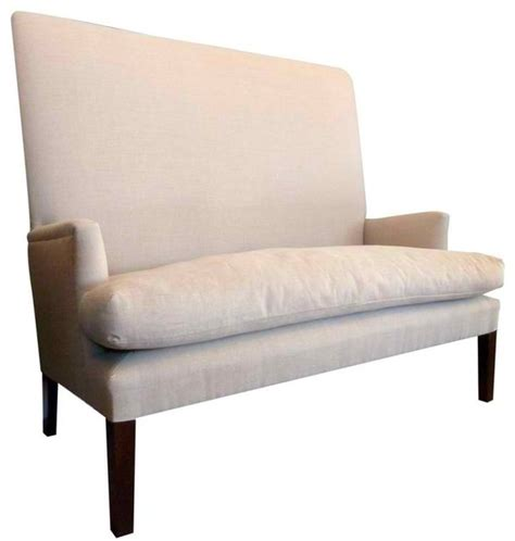 high back tufted settee high back settee modern loveseats new york by omero