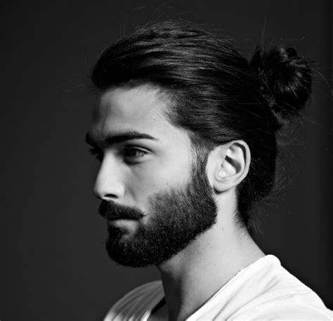 top knot hairstyle for men men s hairstyles to match with beards haircuts