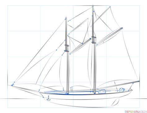 how to draw a 3d boat how to draw a sailing ship step by step drawing tutorials