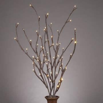 lighted branches in lighted willow branches bendable 39 inch set of 2