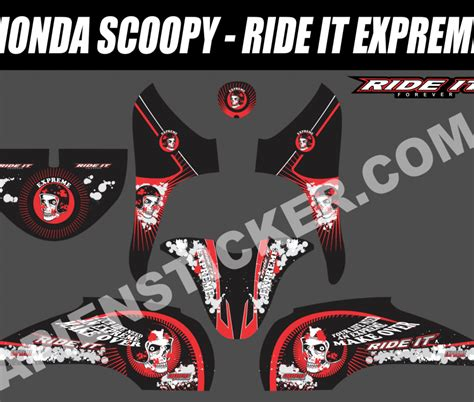 Sticker Striping Motor Stiker Honda Vario Fi 217 Biru Spec A striping motor scoopy ride it expreme apien sticker