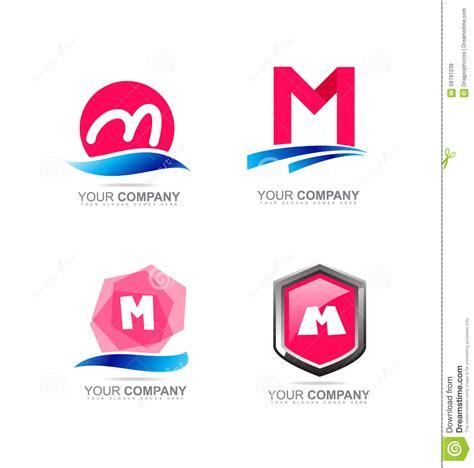 M Vector Logos Brand Logo - letter m logo icon set stock vector image 58791239