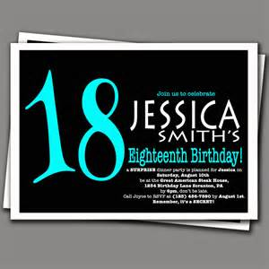 free 18th birthday invitation templates 18th birthday invitation aqua blue and by