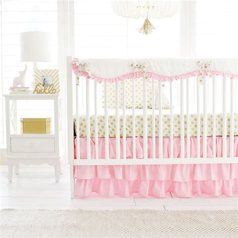 pink and gold crib bedding pink and gold crib bedding for baby girl by