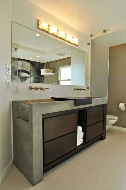 top concrete bathroom vanity on concrete sink vanity los angeles contemporary bathroom vanities