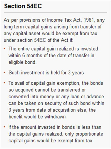 capital gains tax bonds and section 54ec investing can be interesting financial awareness