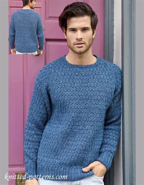 free knit pattern mens sweater men s jumper knitting pattern free