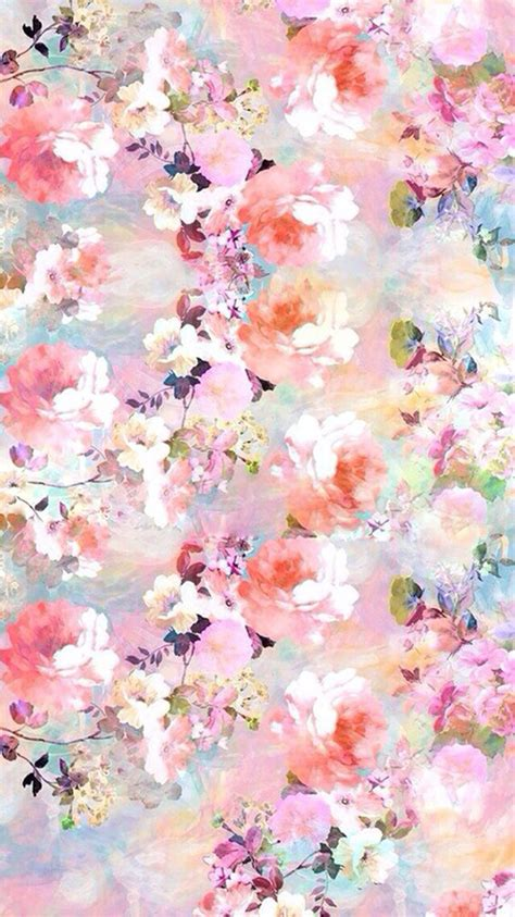 wallpaper flower portrait watercolor flowers painting iphone 6 wallpaper http