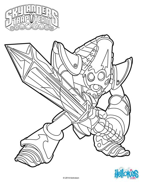 Krypt King Coloring Pages | random fun these 10 skylanders trap team coloring pages