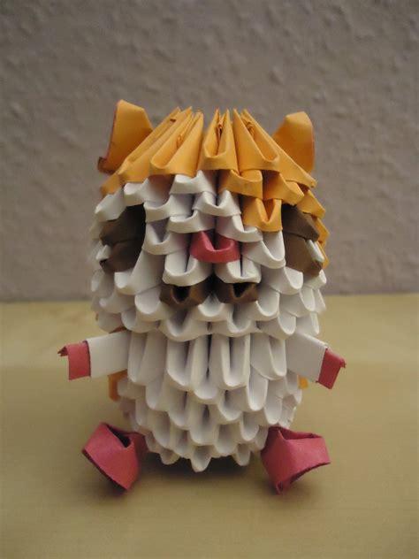 3d origami figures 3d origami hamtaro 1 by mixowelle on deviantart