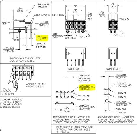 design engineer molex pcb design incorrect drill diameter for molex 5569 mini