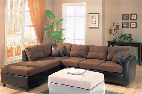 leather and microfiber sectional sofa brown microfiber sectional sofa amazing brown microfiber u