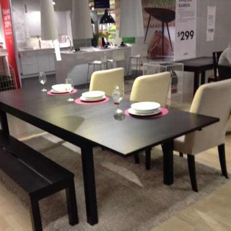 Ikea Bjursta Bar Table Bjursta Dining Table Ikea Dining Table With 2 Pull Out Leaves Seats 4 Makes It Possible To