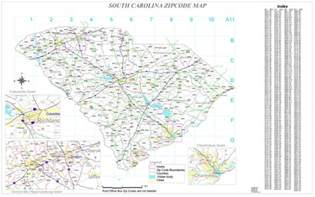 carolina map zip code map for south carolina zip code map