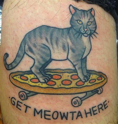 tattoo cat pizza 11 unique pizza cat tattoos