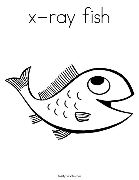 X Ray Fish Coloring Page Coloring Home X Fish Coloring Page