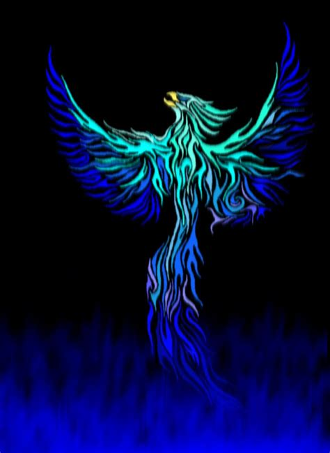 blue phoenix by glacier phoenix on deviantart