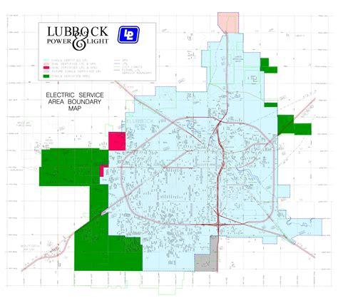 lubbock power light lubbock tx service map lp l