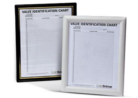 Valve Tag Accessories 8 5 X 11 Quot Aluminum Plastic Valve Tag Chart Valve Tag Chart Template