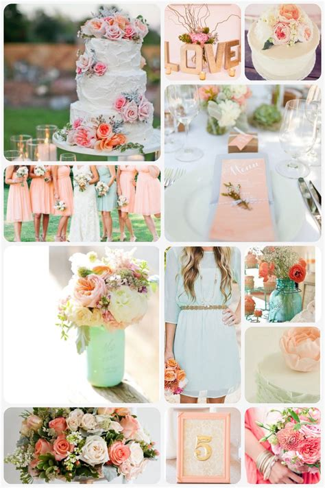 peach and gold peach mint and gold wedding theme beach wedding project