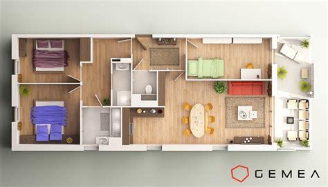 Floor Plans 3d plan de masse appartement 3d 1 d 233 coration d 233 tail