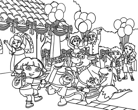 dora and buji coloring page free printable soccer coloring pages for kids soccer