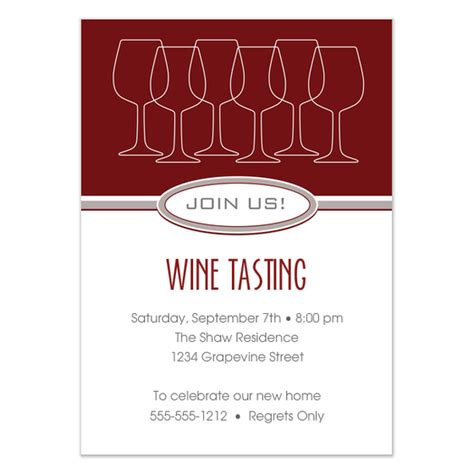 wine tasting template wine tasting theme invitations cards on pingg