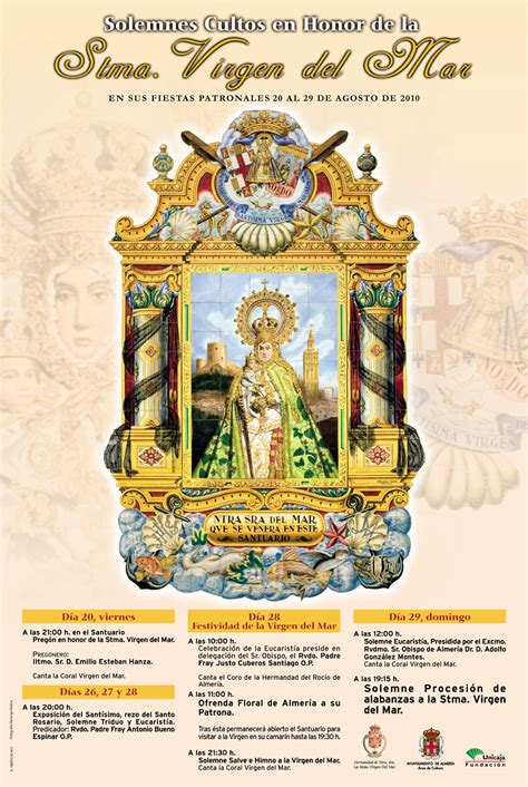 actos y cultos en honor de la virgen mar feria de