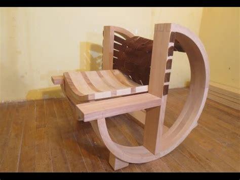 como hacer una mecedora de madera carpinteria mueble