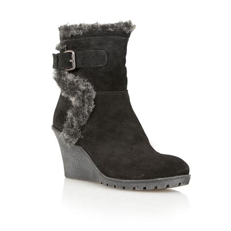 buy ravel alabama wedge ankle boots in black