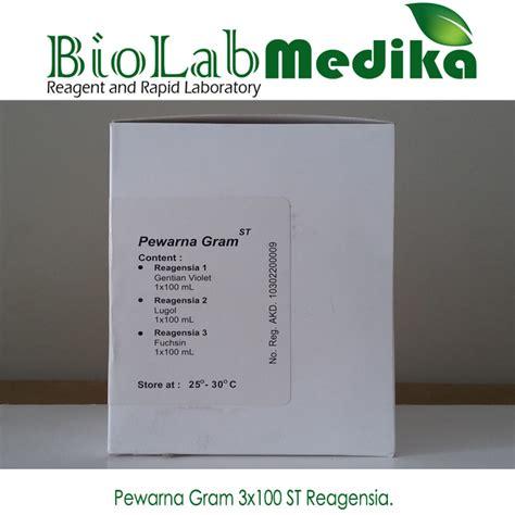 Pewarna 10 Gram pewarna gram 3x100 st reagensia biolab medika