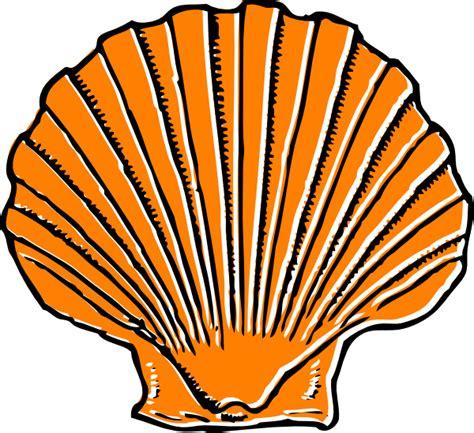 shell clipart orange seashell clip at clker vector clip