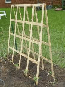 Building A Garden Trellis by Diy Folding Trellis For Your Vegetable Garden