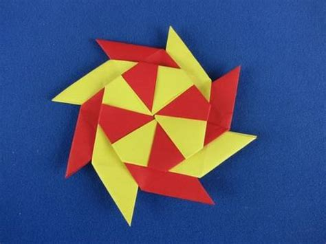 Origami Shuriken 8 Point - stella ningja 8 punte how to make an origami eight pointed