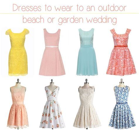 Dresses to wear to an outdoor beach or garden wedding