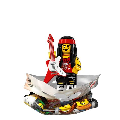 Lego Original Minifigure Rocker Rock Guitar Series ninjago minifigures gong and guitar rocker bricking around