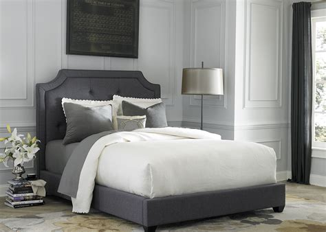 grey upholstered bed dark gray upholstered queen upholstered bed from liberty