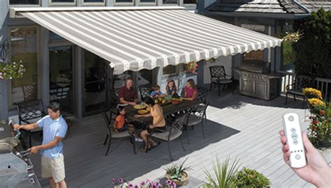 easyshade motorised awnings sunsetter motorized and motorized xl awnings