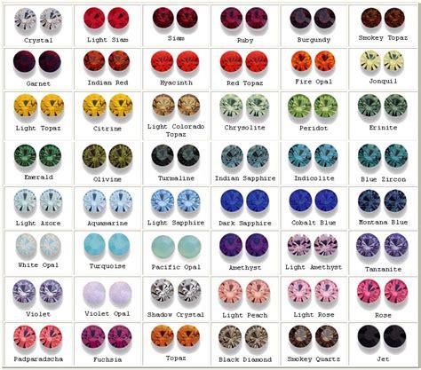 swarovski colors for interiors swarovski colour chart