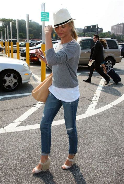 26630 Wedging Casual Top 17 best images about cameron diaz on white skinnies bags and denim jackets